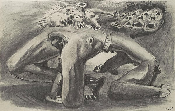 An image of Sketch for 'The judgement of Paris' (variation 11)