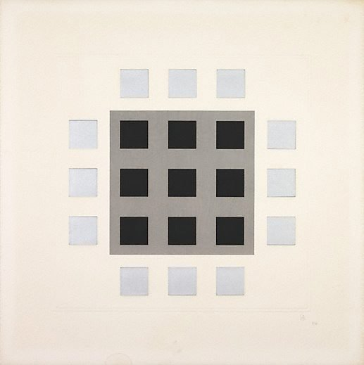 An image of (Grey, black squares)