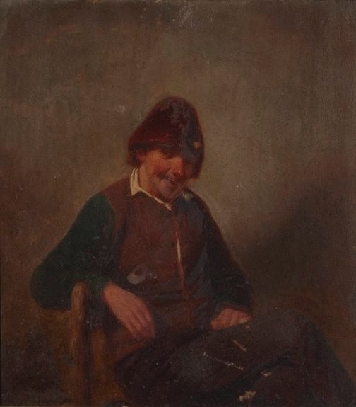 An image of Study of an old man by C K V