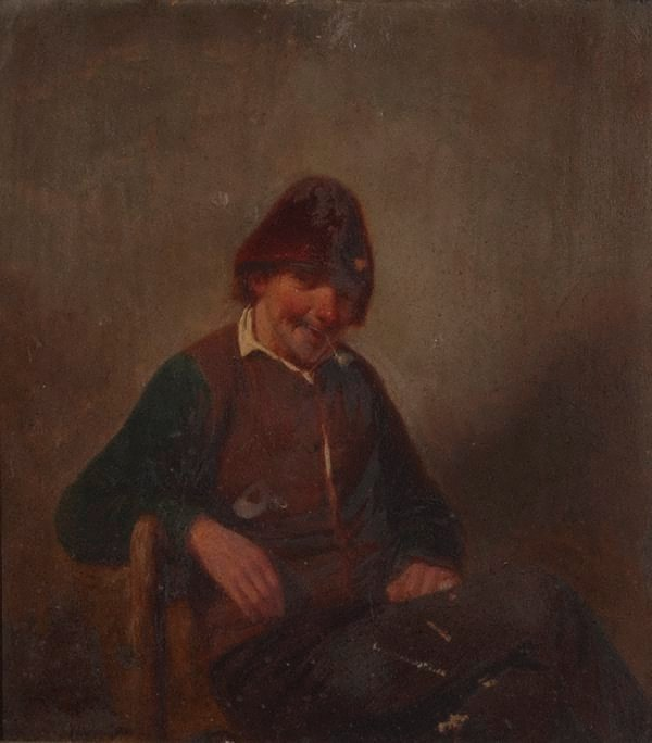 An image of Study of an old man