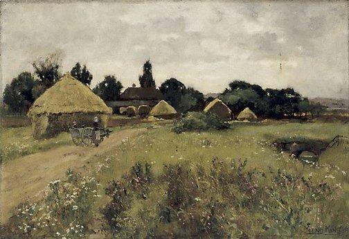 An image of A farm near the Kentish Coast by Yeend King