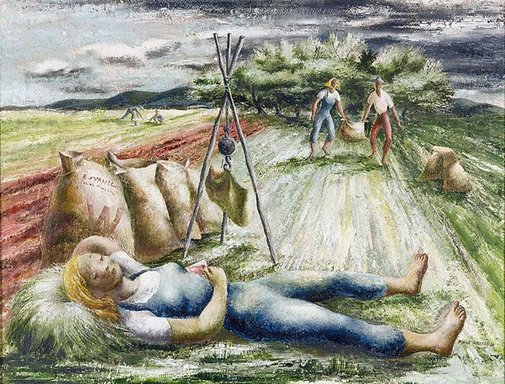 An image of The pea pickers by Elaine Haxton