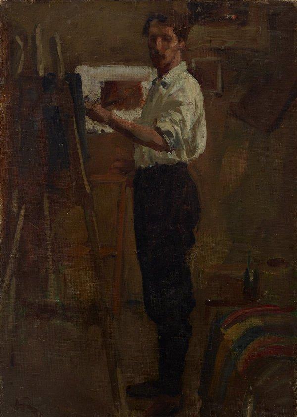An image of Artist in studio