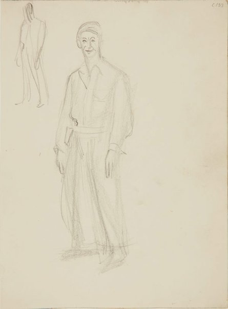 An image of (Two figures) (Early Sydney period) by William Dobell