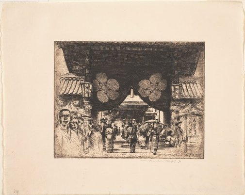 An image of Leading to the temple by Mortimer L Menpes