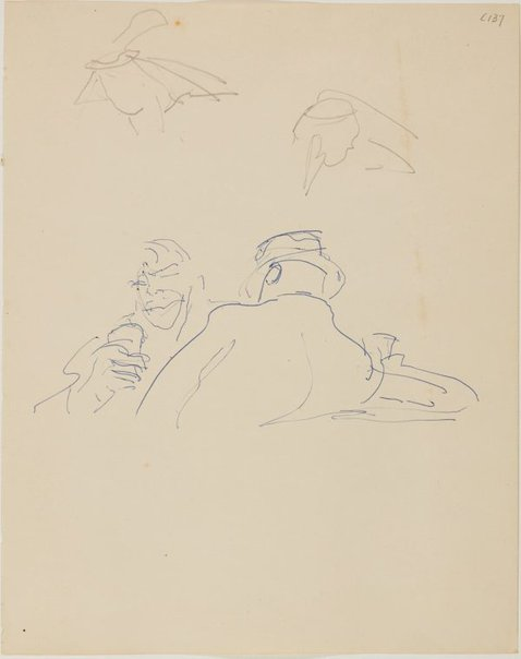 An image of (Two drinkers) (Early Sydney period) by William Dobell