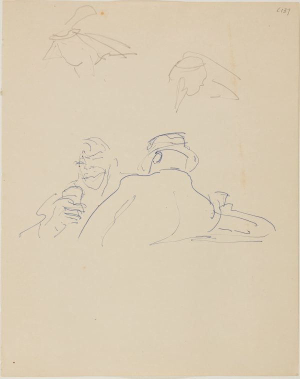 An image of (Two drinkers) (Early Sydney period)