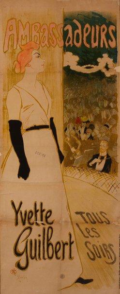 An image of Ambassadeurs: Yvette Guilbert by Théopile Steinlen