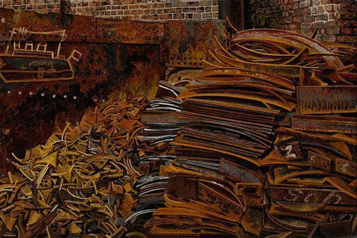 An image of The scrapheap by Sir Stanley Spencer