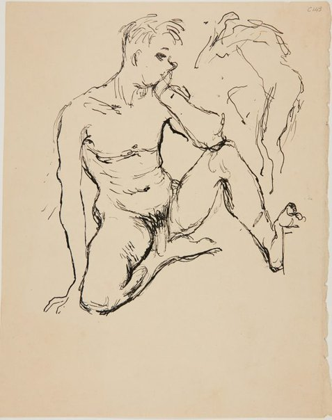 An image of (Nude figure study) (Early Sydney period) by William Dobell