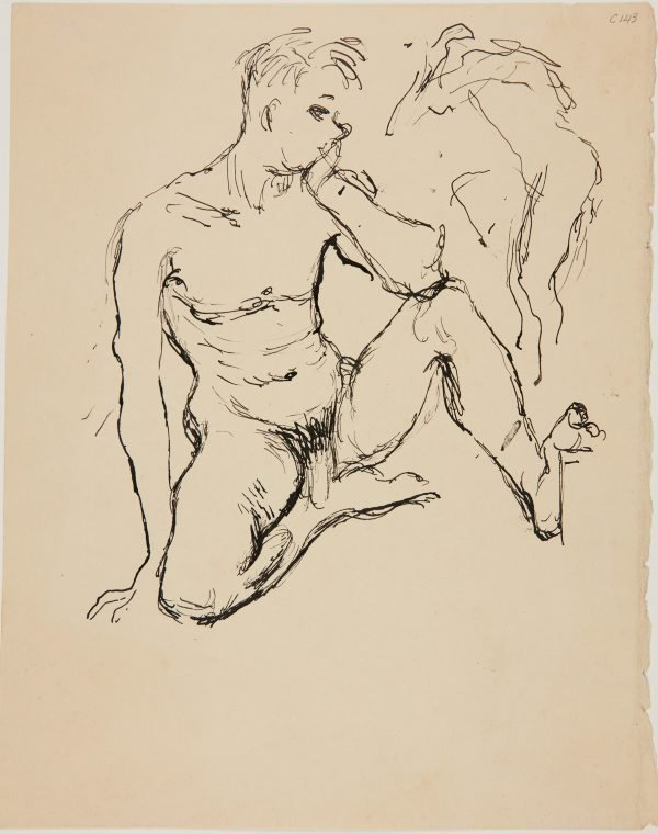 An image of (Nude figure study) (Early Sydney period)