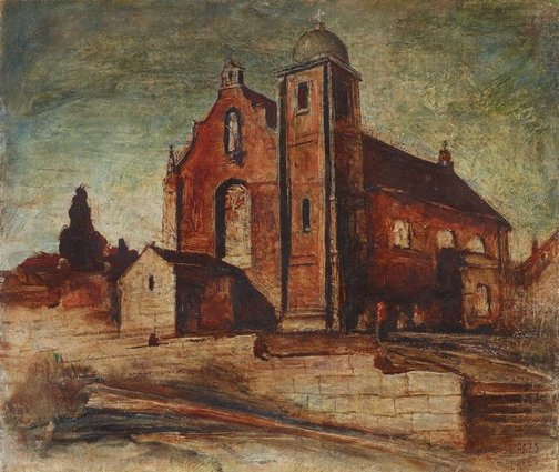 An image of Church at Lane Cove by Lloyd Rees