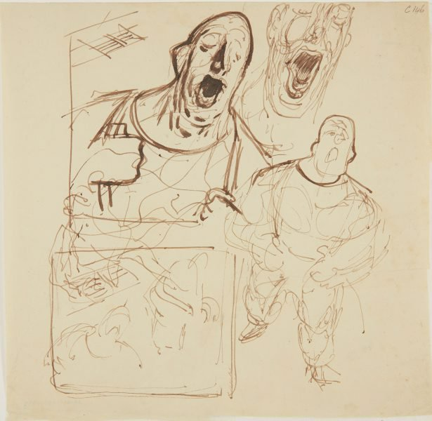 An image of (Studies of man singing) (Early Sydney period)
