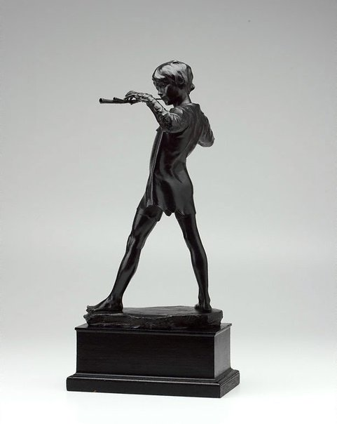 An image of Peter Pan by Sir George Frampton