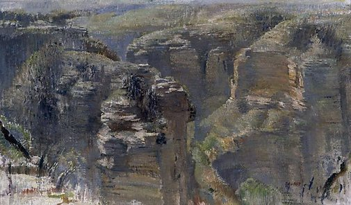 An image of The gorge by Arthur Murch