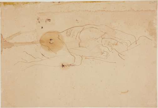 An image of (Nude reclining) (Early Sydney period) by William Dobell