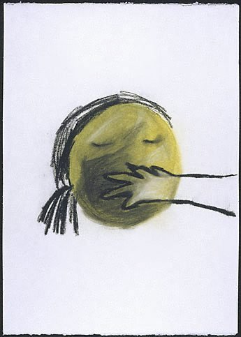 An image of European drawings by Jenny Watson