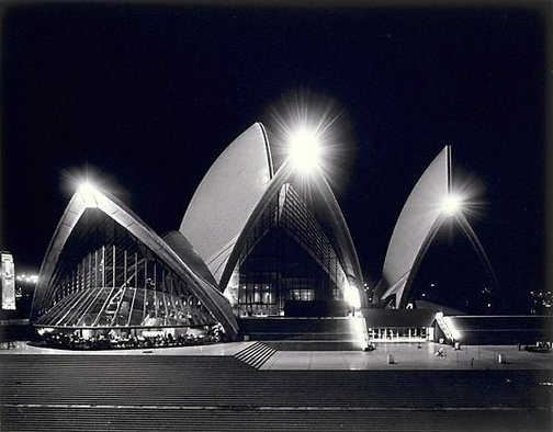 An image of Sydney Opera House at night by Max Dupain