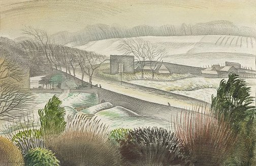 An image of Winter landscape, Liberton, Edinburgh by Douglas Percy Bliss