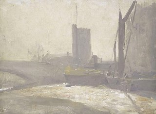 AGNSW collection Tom Roberts Thames barges (circa 1909) 7603