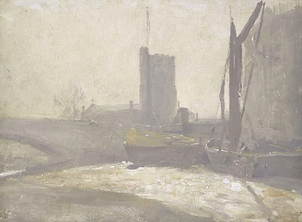 Thames barges, (circa 1909) by Tom Roberts