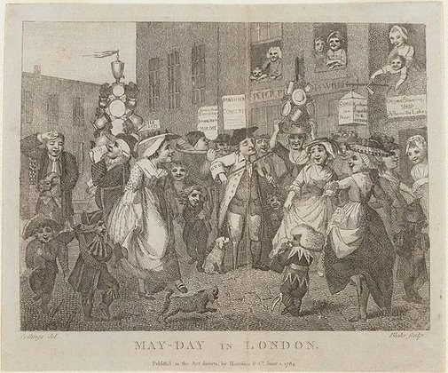 An image of May Day in London by William Blake, after Samuel Collings
