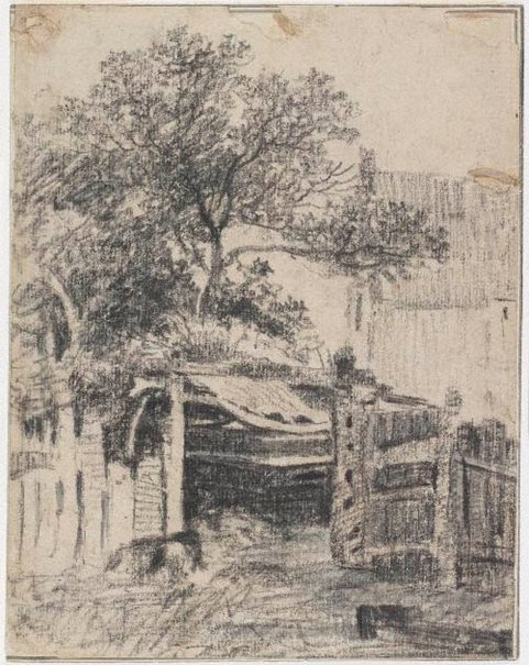 An image of Watermill and sluice gate by Unknown, after George Frost