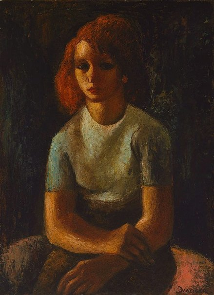 An image of The girl with red hair by Alice Danciger