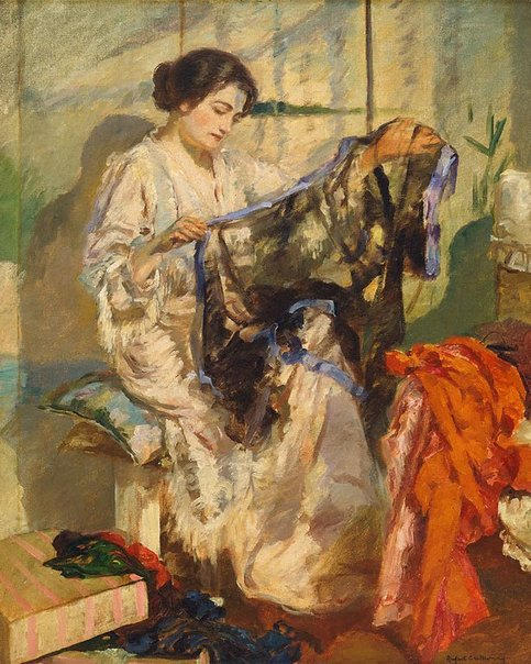 An image of Chiffons by Rupert Bunny