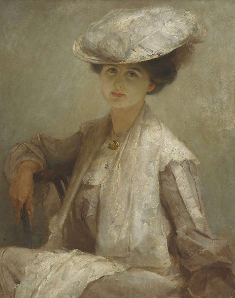 An image of Grey lady (Mrs Ince) by Tom Roberts