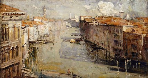 An image of Grand Canal, Venice by Arthur Streeton
