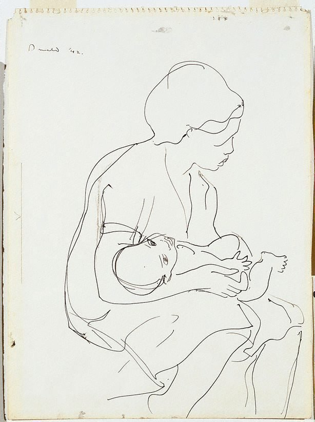 An image of Woman and child