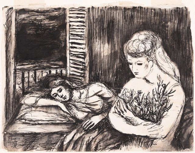 An image of The sick girl