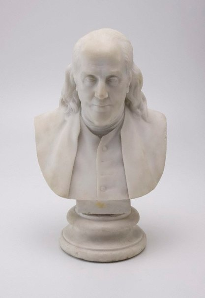 An image of Benjamin Franklin by Hiram Powers