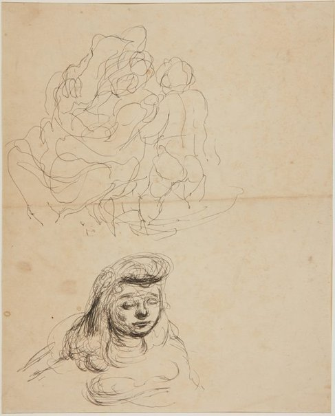 An image of (Figure studies, head of a girl) (Early Sydney period) by William Dobell