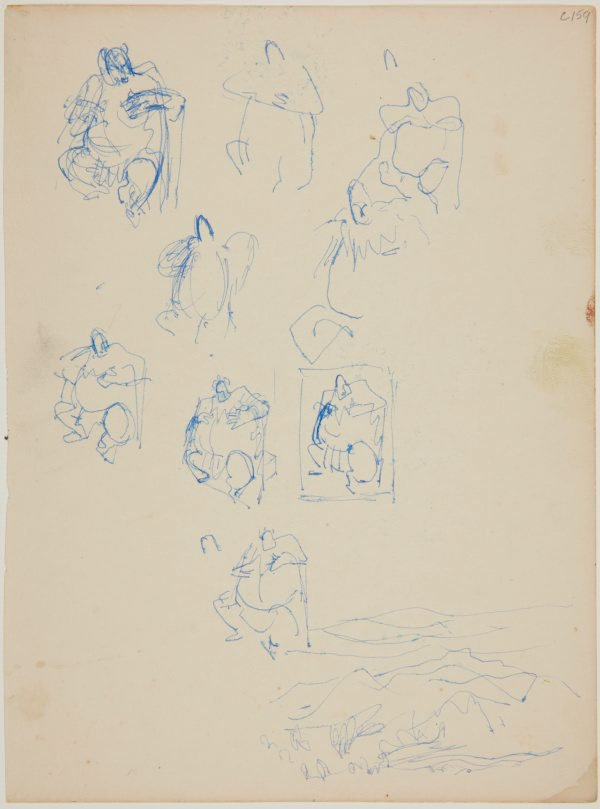 An image of (Figure studies of fat man) (Early Sydney period)