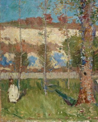 Alternate image of Madame Sisley on the banks of the Loing at Moret by John Russell