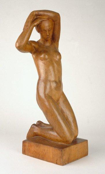 An image of Kneeling girl by Arthur Fleischmann
