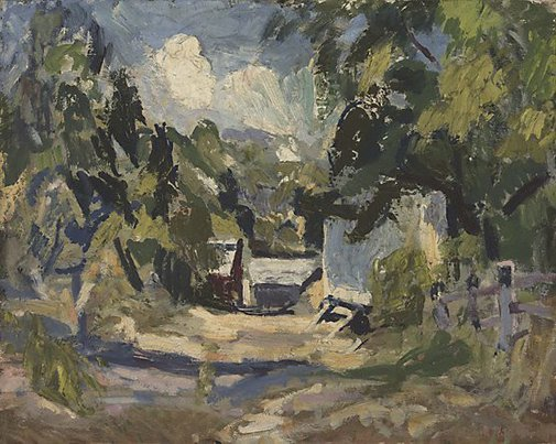 An image of Flat rock barn by William Frater