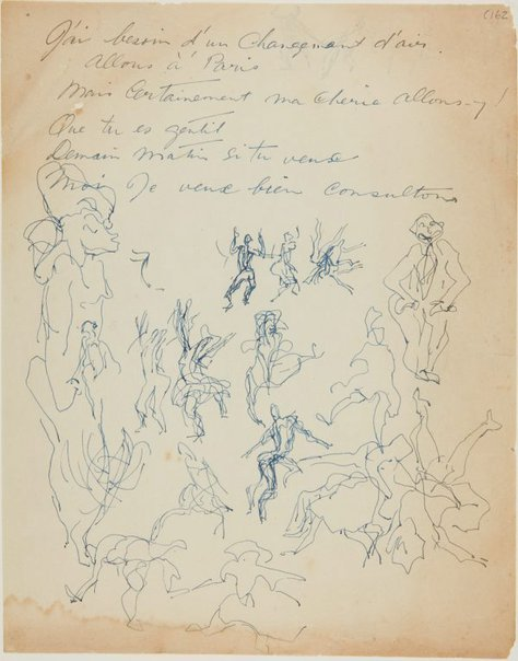 An image of (Dancing figures) (Early Sydney period) by William Dobell