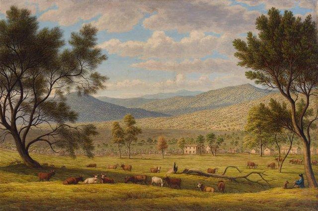 Patterdale farm, (circa 1840) by John Glover