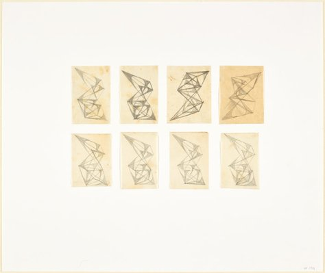 Alternate image of Eight studies for abstract sculptures by Margel Hinder