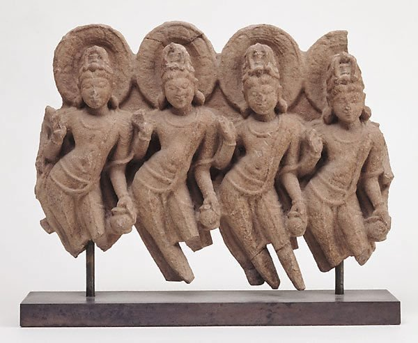 An image of Fragment of a lintel depicting the Navagraha (nine planets)