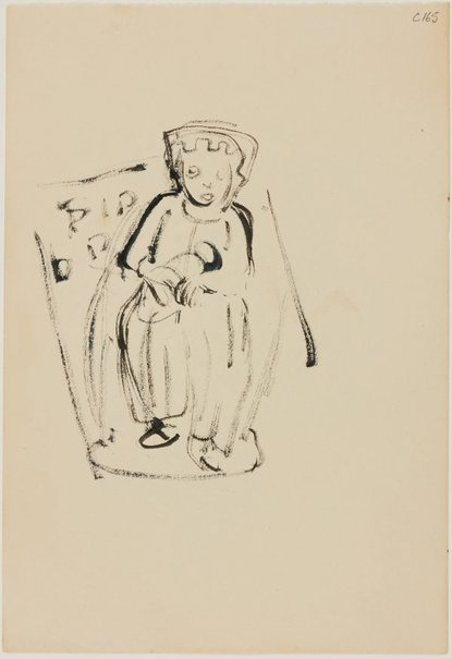 An image of (Figure with crown?) (Early Sydney period) by William Dobell