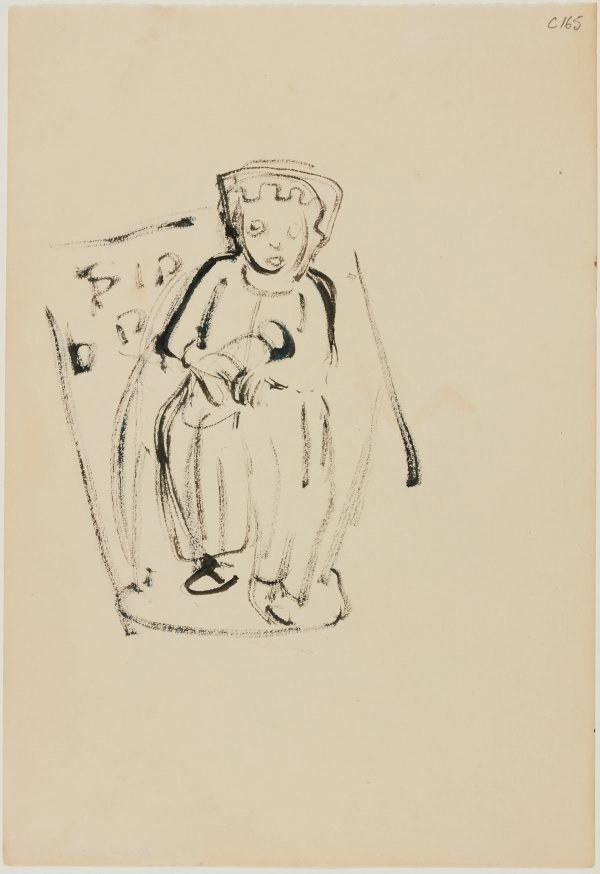 An image of (Figure with crown?) (Early Sydney period)