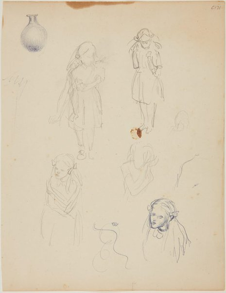 An image of (Studies of a young girl) (Early Sydney period) by William Dobell