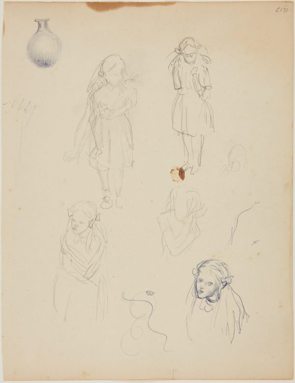 An image of (Studies of a young girl) (Early Sydney period)