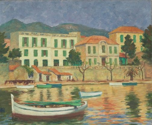 An image of Waterfront, Bandol by Rupert Bunny