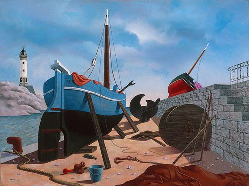 An image of Careening by Tristram Hillier