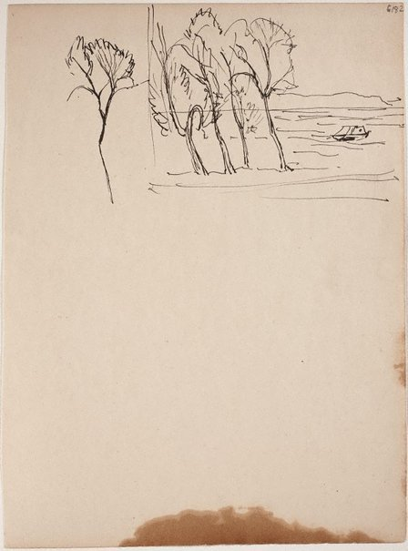An image of (Trees on shoreline) (Early Sydney period) by William Dobell